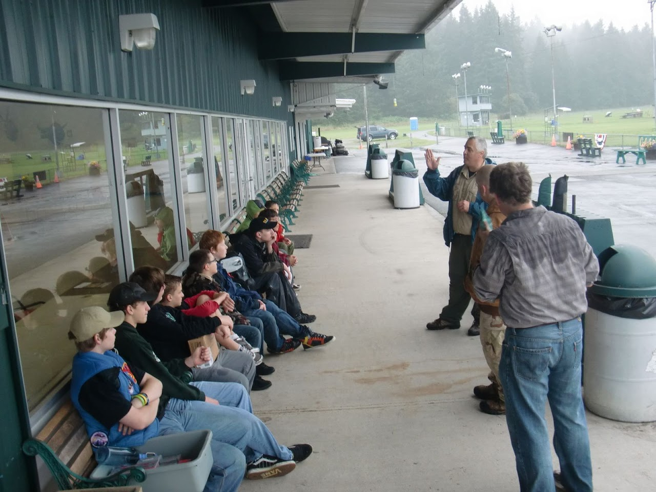Safety Instruction before we get to shoot the birds.