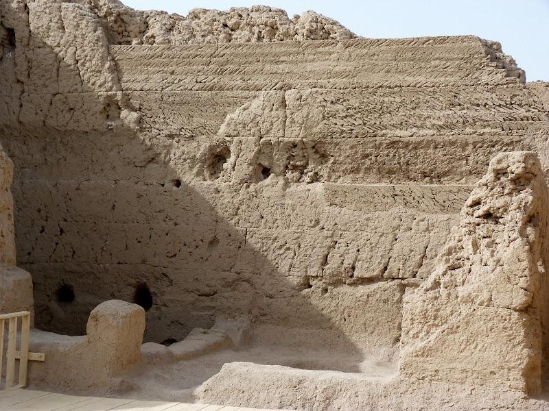 XINJIANG.  Turpan. Ancient city of Jiaohe, Flaming Mountains, Karez, Bezelik Thousand Budda caves - P1270807.JPG
