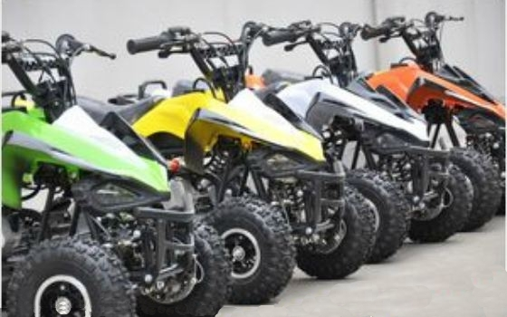 49cc 2 stroke Kids Quad Bike ATV Green Orange Yellow White
