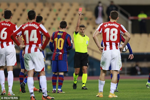 Lionel Messi Facing Possible 12 Match Ban For Punching Opponent During Super Cup Final Against Athletic Bilbao