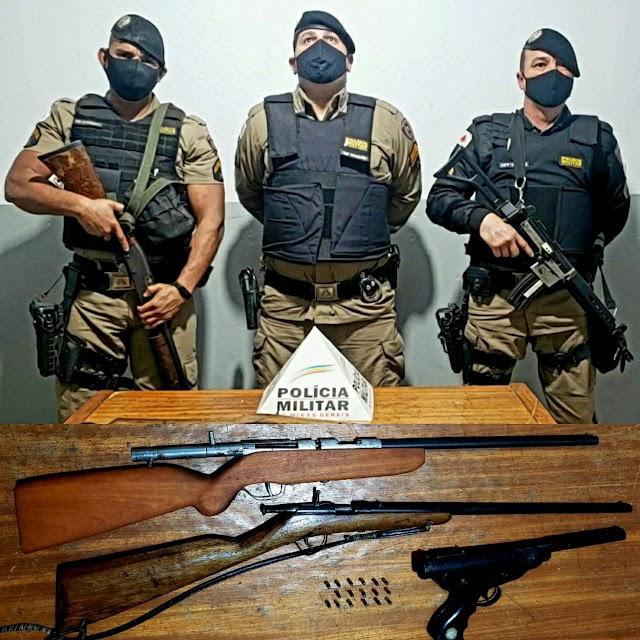 Homem é preso com armas de fogo na zona rural de Divino
