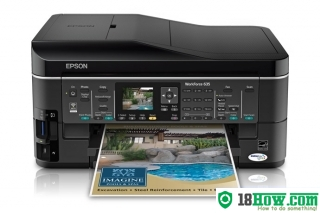 How to reset flashing lights for Epson WorkForce 635 printer