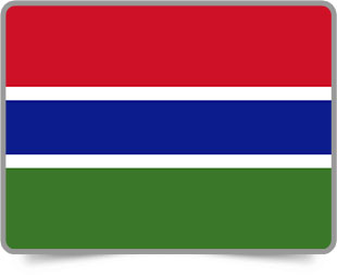 Gambian framed flag icons with box shadow