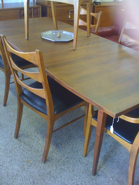 mid century dining room table