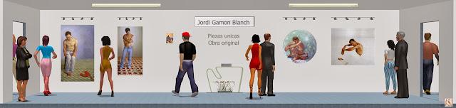 Sala de exposición virtual de pinturas de Jordi Gamón Blanch