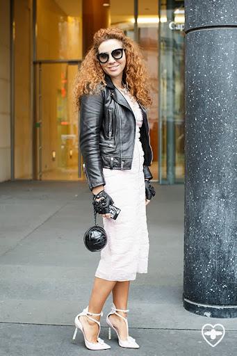 Natasha Zinko; fashion and jewellery designer; SL jacket; Dior dress; Chanel bag; Chanel gloves; Natasha Zinko jewellry; Sophia Webster shoes;