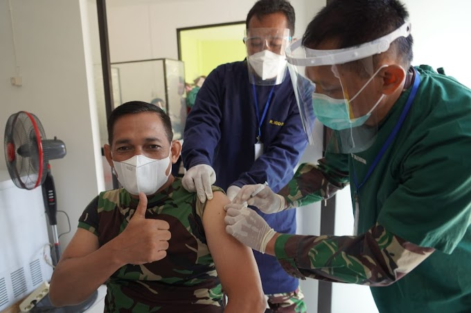 170 Prajurit Wijayakusuma di Vaksin Dosis Pertama