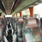 Het interieur van de Vanhool van Bovo Tours bus 306