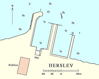 Detaljekort over Herslev havn