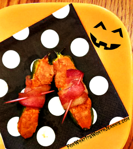 Pumpkin flavored Stuffed Jalapeño Appetizer