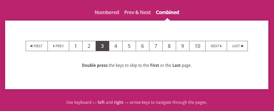 Pagination Shortcuts
