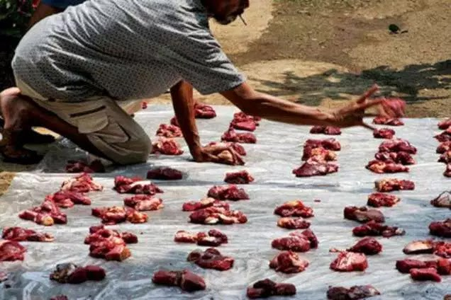 Image result for muslim eating pork