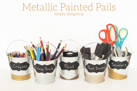 Metallic-Painted-Pails