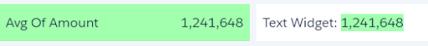 Tableau CRM text widget conditional formatting