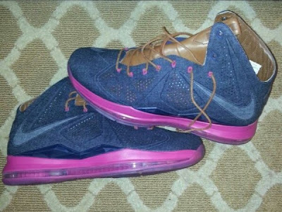 nike lebron 10 sportswear pe denim 1 01 King James Unveils New Kicks for the Night   Denim Xs