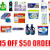 $15 Off $50 Order on Amazon of Household Supplies + Free Shipping: Lysol Laundry Sanitizer, Clorox Bleach, Snuggle, All, Persil, Ziploc, Glad, Hefty, Reynolds, Mrs. Meyer's, Swiffer, Tide, Scotch-Brite, Glade, Airwick, Febreeze, Downy, Shout many more