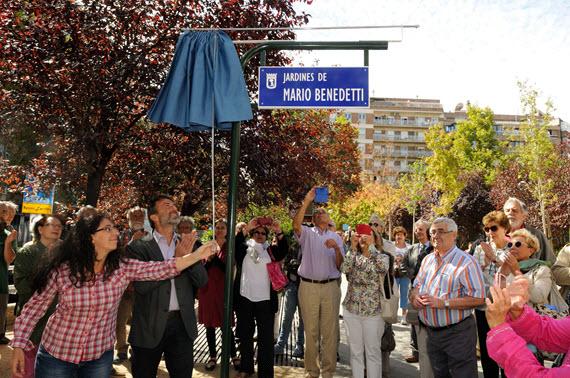 Inaugurados los Jardines Mario Benedetti en Chamartín