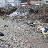 2. Бытовой мусор вдоль тропинки и не благоустроенный склон ГК Пушка