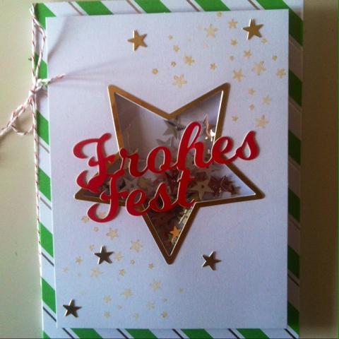 Karte, Schüttelkarte Stern,Stampin Up, Weihnachtskarte, Shaker Card, Loewchenzimmer, Löwchenzimmer