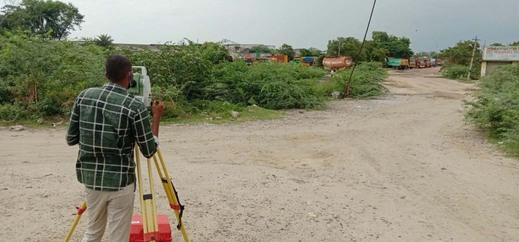 New bus stand in Ranipettai: Space surveying work has started