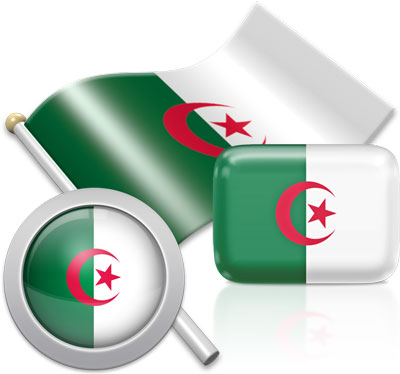 Algerian flag icons pictures collection