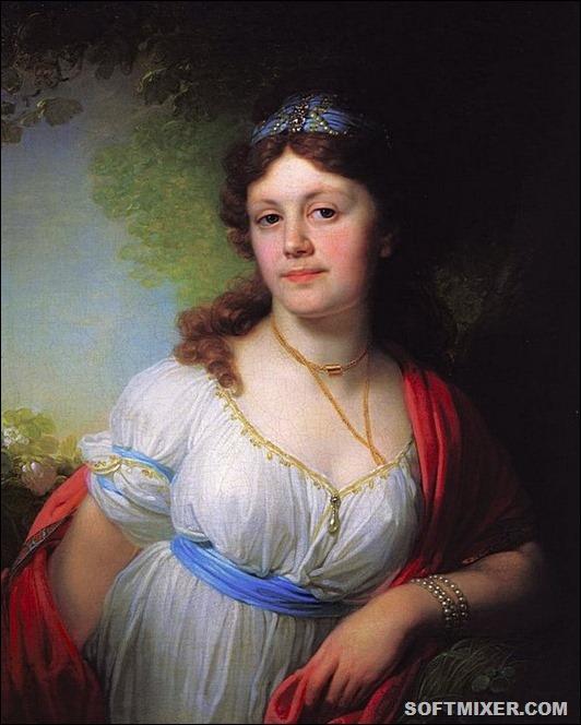 Портрет Елизаветы Григорьевны Темкиной. 1798