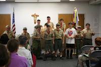 Some scouts earn rank advancement