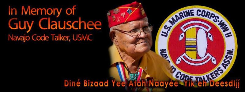 In Memory of Guy Claushcee, Navajo Code Talker, USMC