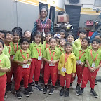 Field trip to Royal Enfield Bike workshop by Jr Kg Section at Witty World, Chikoowadi (2018-19)