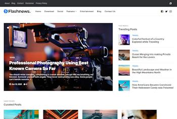 FlashNews Premium Blogger Template