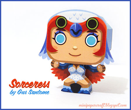 Mini Sorceress Papercraft