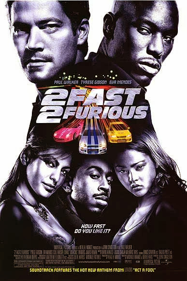 Poster Of 2 Fast 2 Furious (2003) Full Movie Hindi Dubbed Free Download Watch Online At Alldownloads4u.Com