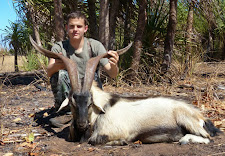 Nice wild goat taken by young Marlin Walkup, USA