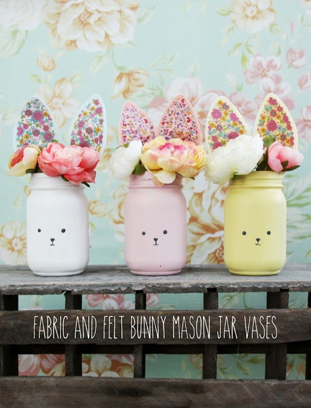 Fabric-and-Felt-Bunny-Mason-Jar-Vases