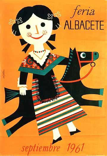Cartel Feria Albacete 1961