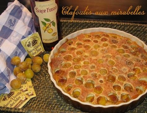 recette du clafoutis aux mirabelles de Lorraine