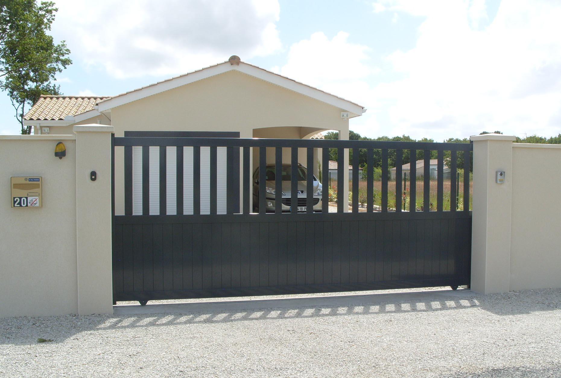 neo10 portail coulissant cool cornov porte de garage coulissante latrale avec portillon with. Black Bedroom Furniture Sets. Home Design Ideas