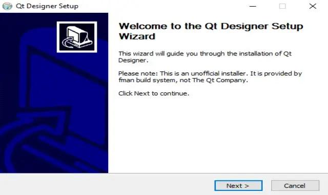 اعداد تثبيت Qt Designer