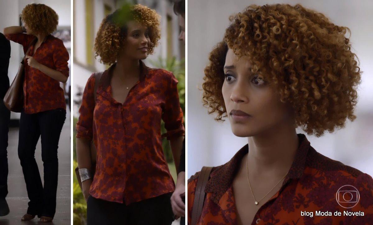 moda da novela Geração Brasil, look da Verônica dia 20 de outubro