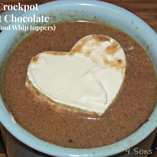 Crockpot Hot Chocolate (with Cool-Whip toppers).