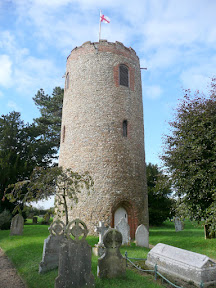 The detatched tower of St Andrews Church, Bramfield
