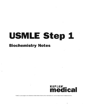 Biochemistry Notes- Usmle Step 1- Lynne B. Jorde
