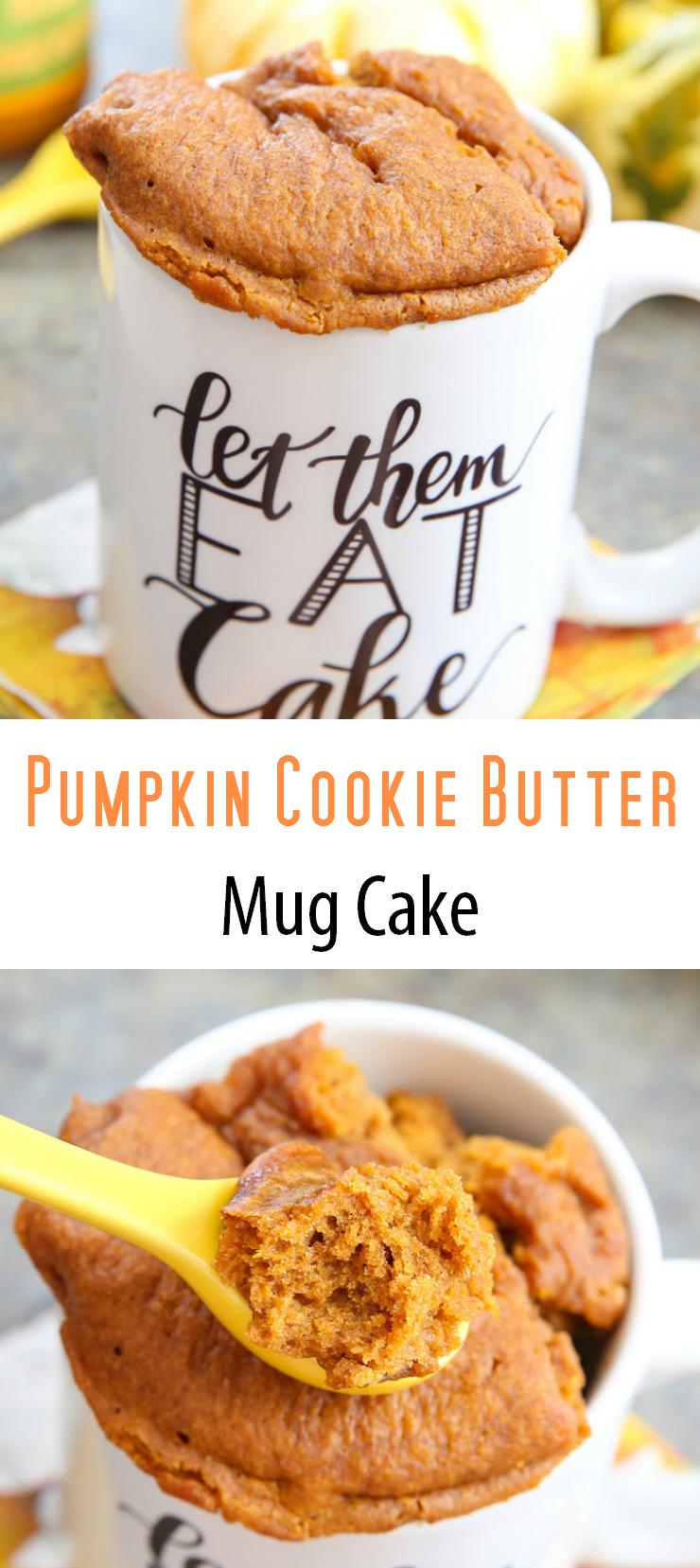 photo collage of Pumpkin Cookie Butter Mug Cake
