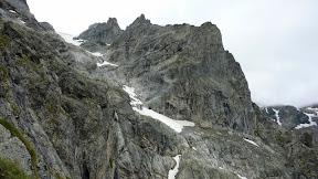 La vue sur les Enfetchores, itinéraire de descente l'hiver