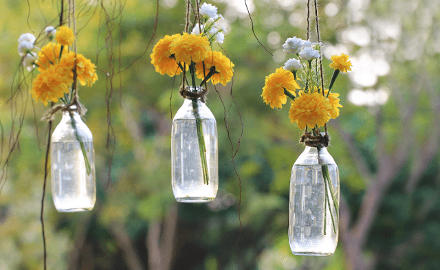 Decorate with bottles