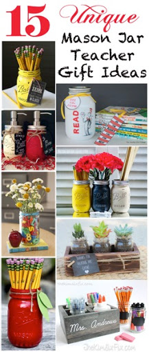15 Unique Mason Jar Teacher Gifts - The Kim Six Fix
