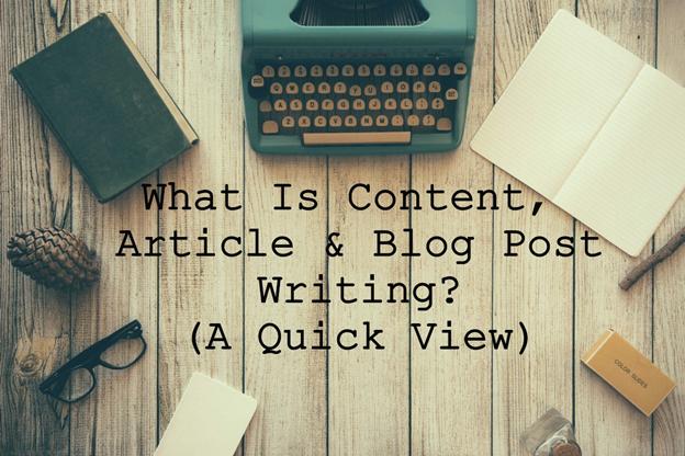 Content, Article, Blogpost