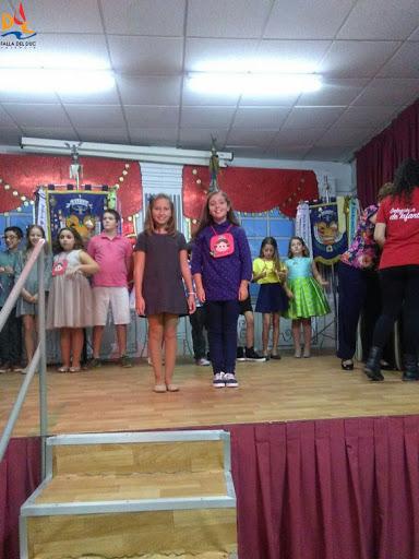 Irene y Aida en la merienda de representantes infantiles de nuestra Agrupación