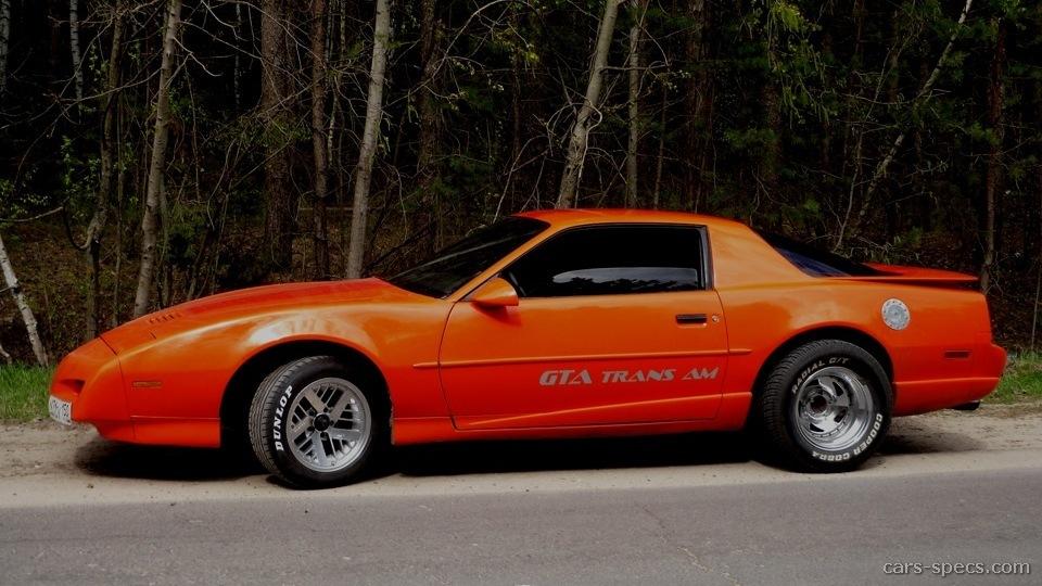 1991 Pontiac Firebird Trans Am Gta Specifications
