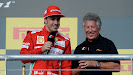 Fernando Alonso & Mario Adretti on 2012 US F1 GP podium